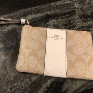 Mini Coach wristlet wallet
